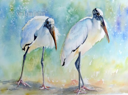 Woodstorks at Noon $99