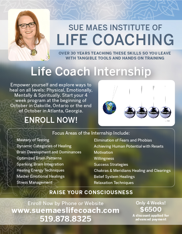 Sue Maes Institute of Life Coaching flyer