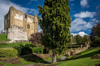 Guildford Castle gardens and tower