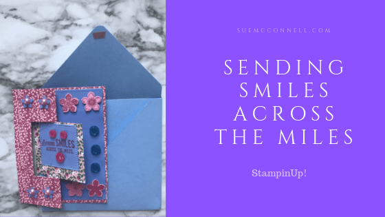 Sending Smiles StampinUp! Paper Card