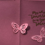 Beautiful Handmade Card With Butterflies & Flowers