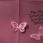 Beautiful Handmade Card With Butterflies & Flowers