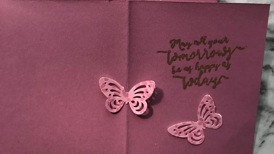 Pink Butterflies With Pink & Rose Gold Flowers