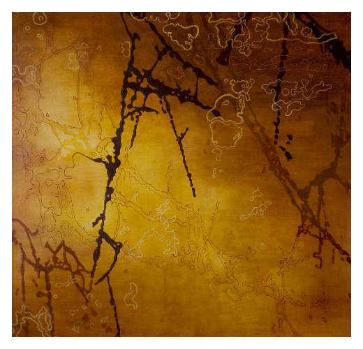 'Marble', made at Westminster Cathedral (169 x 169cm, oil on canvas, 2003) £1000