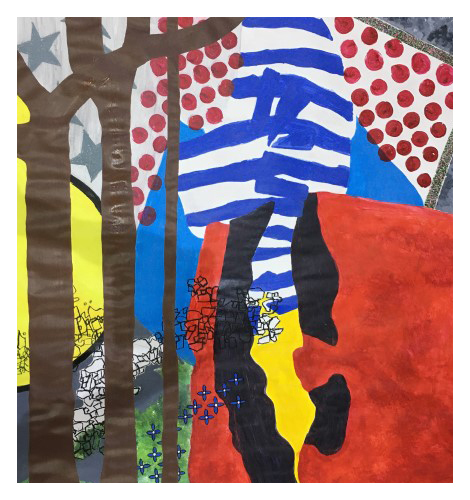 'Where The Trees Are 100ft Tall' 100 x 100cm, acrylic on paper, 2019 £1400