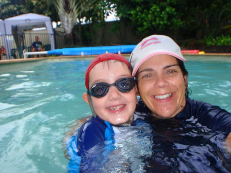 Sue Mickelson Swimming