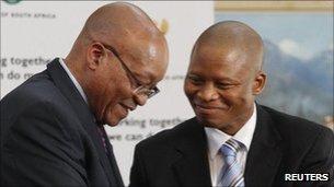 Jacob Zuma and Mogoeng Mogoeng