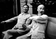 Statue of Ho Chi Minh and Phan Van Dong
