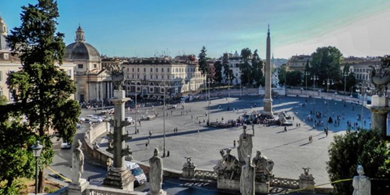 Piazza del Popolo, Basilica of Santa Maria del Popolo, and Museo Leonardo da Vinci