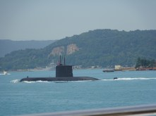 Turkish Submarine in Bosphorus