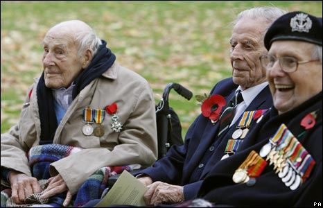 WW1 veterans, vulnerable to cut backs