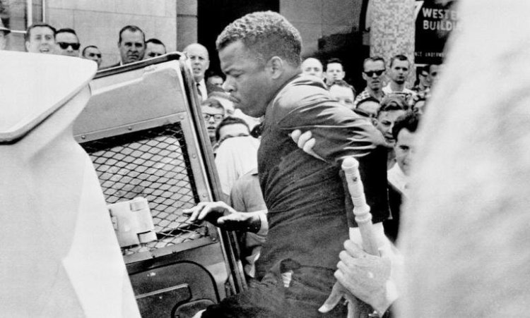The honorable John Lewis seen here being arrested for protesting peacefully. He's gone on to lead and be a powerful voice for justice. The Georgia Congressman has dedicated his life fighting for change, reform and justice at the highest level in the land.