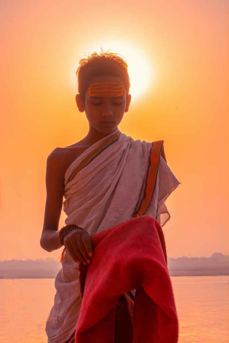 boy in traditional wear