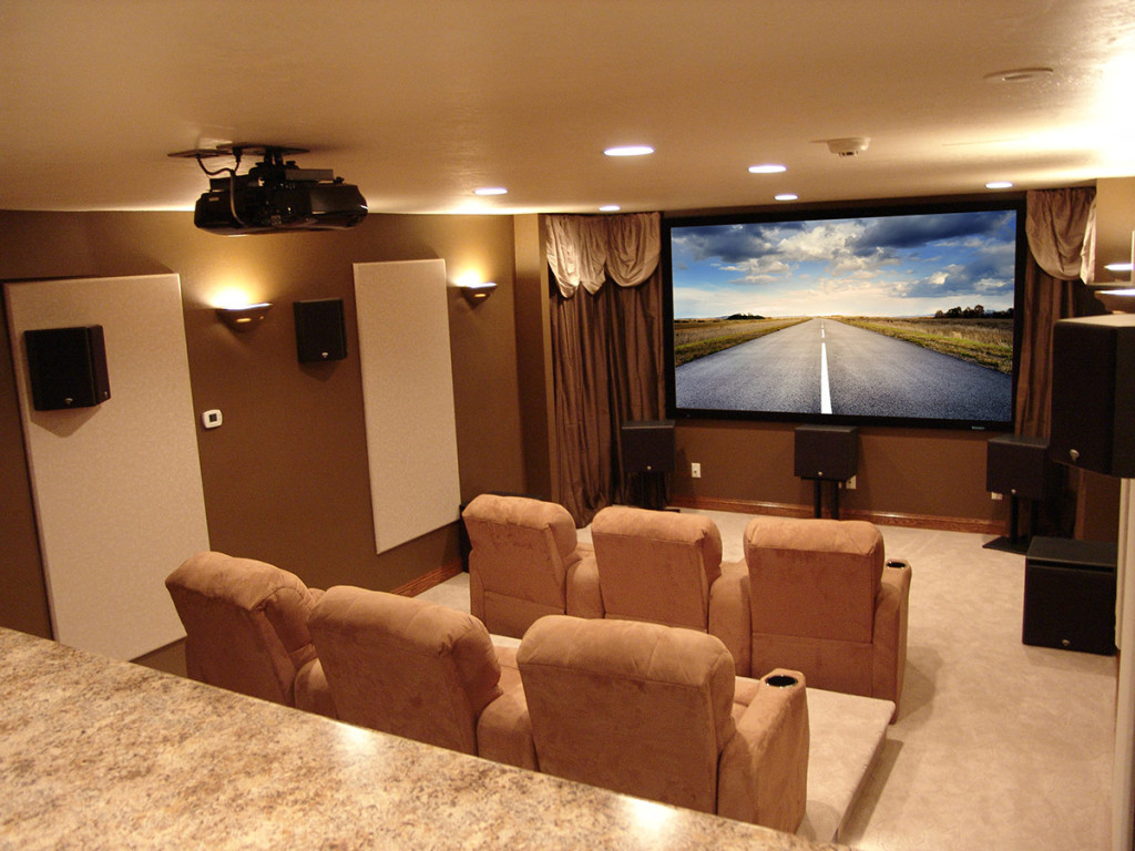 hight resolution of dedicated home theater for a crowd