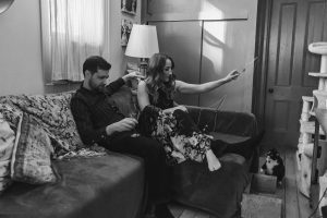 in-home-engagement-photo-session-cat-mom-cats-suessmoments-brooklyn-photographer