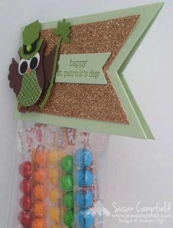 St. Patrick's Day Owl Punch Leprechaun Rainbow Treat Bag with Banner Framelits4-imp