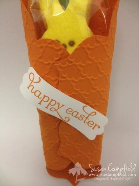 Eaters Peeps Carrot Treat Holder with Floral Frames Framelits2-imp