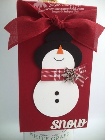 Punch Art Snowman Bottle Tag and Card2-imp