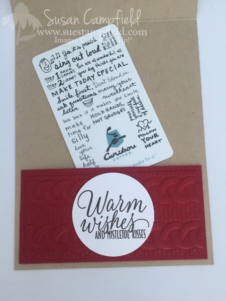 Coffee Cup Card With Home Sweet Home Thinlits Dies - 4