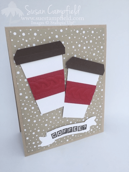 Coffee Cup Card With Home Sweet Home Thinlits Dies - 5