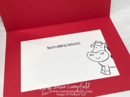 Cow in the Barn Sliding Door Card - 10