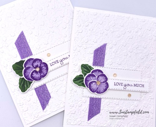 Stampin' Up! Pansy Patch Love You Much in Purple - 1 (4)