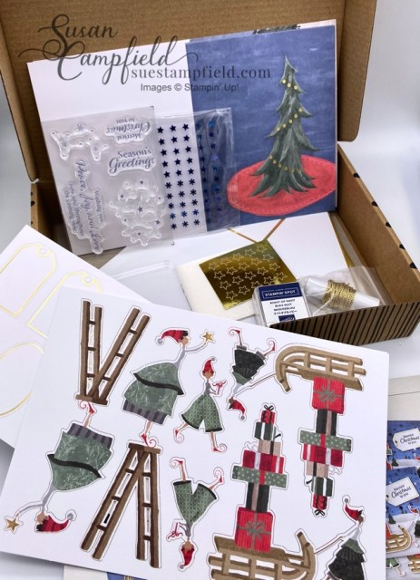 Christmas Whimsy Card Kit make 8 cards
