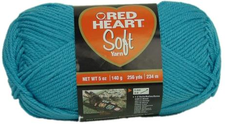 Red Heart Soft Yarn in Teal