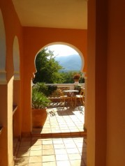 View from upstairs at Mas Figueres, photo Sue Style