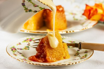 Apricot and Almond Pudding