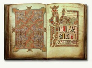 pages from the Lindisfarne Gospels
