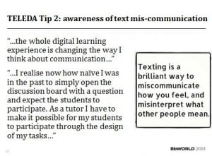 TELEDA Tip 2 awareness of text mis communication