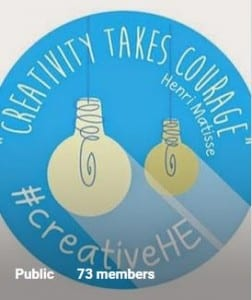 Creativity in higher education course logo