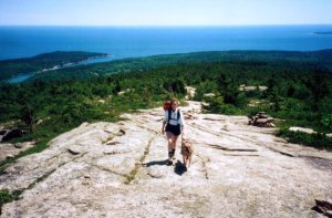 In the open on Cadillac Mountain