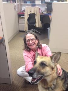Sue and Kismet in the Birmingham Field Office