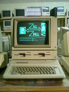 Picture of an Apple IIE computer
