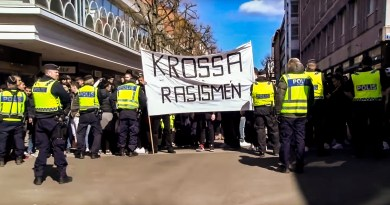 Antifascistisk demonstration mot AfS i Uddevalla