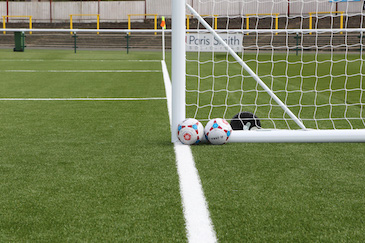 Sutton United 3G Pitch Goalpost and Footballs