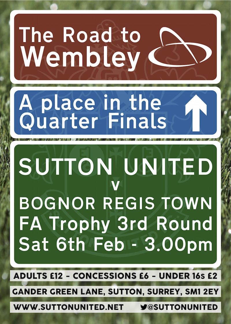 FA Trophy v Bognor Sutton United 3g Pitch