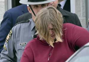 Lisa Snyder is arrested/taken into custody by police