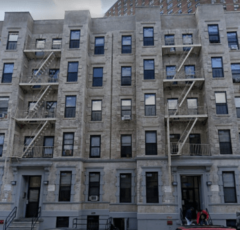 The apartment building at 606 W 135 St in Harlem (New York City) where Zymere Perkins was beaten to death by his mother, Geraldine Perkins' boyfriend, Rysheim Smith