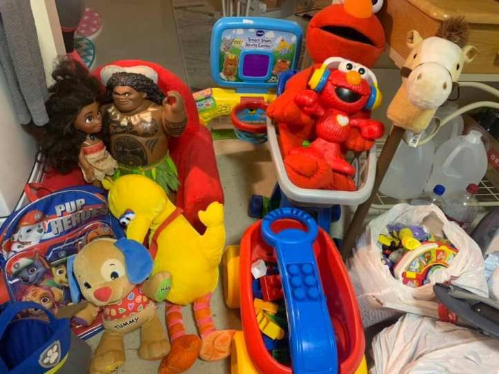 Toys that have been donated for RheaLeigh and Leeland Webber