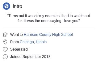 Chellsea Webber's Facebook intro