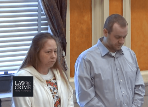 Groves trial: Jessica and Daniel Groves stand for the judge as their trial resumes on the morning of Thursday, January 9, 2020.