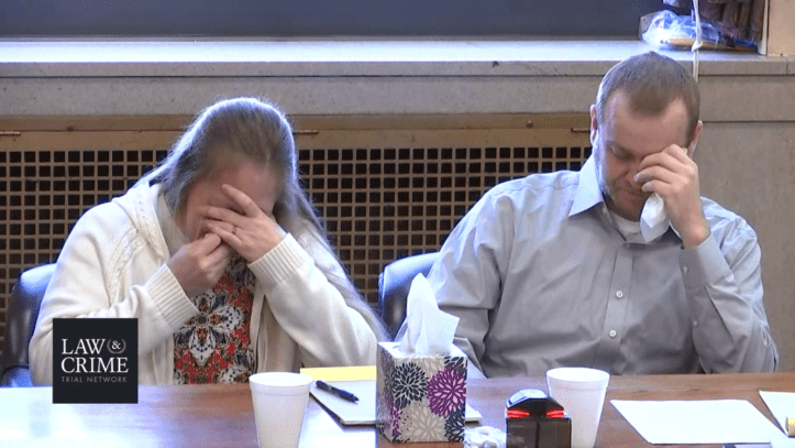 Groves trial: Jessica and Daniel Groves react to their son Dylan's autopsy photos.