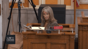 Groves trial: Dr. Susan Brown confirms the item in the evidence bag is, in fact, the pair of milk crates that comprised Dylan's makeshift coffin.
