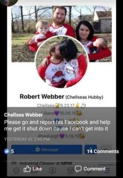 Screenshot of Robert Webber's Facebook
