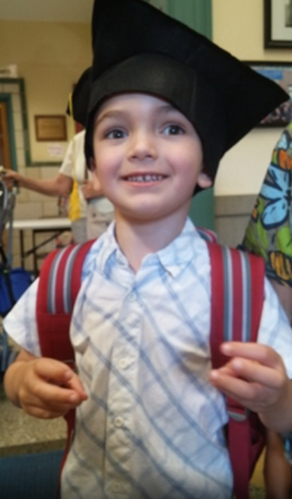 Thomas Valva graduating from preschool