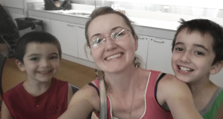 Justyna Zubko-Valva with sons Thomas and Anthony