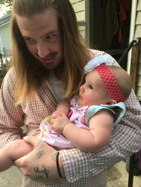 Zachary Littell and daughter Ava Littell
